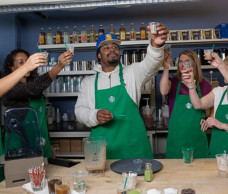MARSHAWN LYNCH TEAMED UP WITH STARBUCKS TO INTRODUCE THE BEAST MODE FRAPPUCCINO