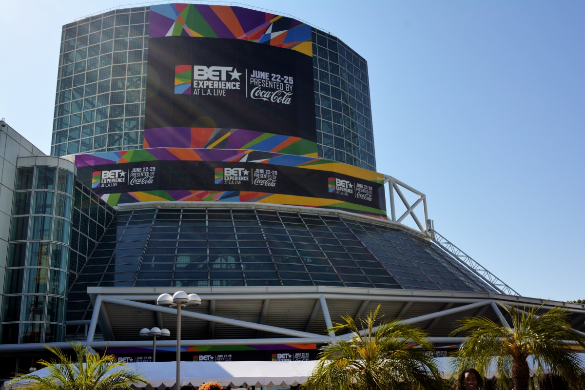 BET Experience Fan Fest outside